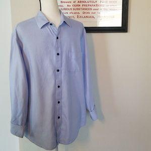 Tasso Elba Blue Striped Button Down Shirt